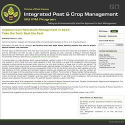 University of Missouri 11/03/13 Soybean Cyst Nematode Management in 2013