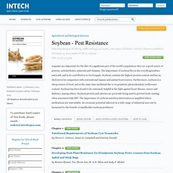 INTECH 13/02/13 Soybean - Pest Resistance - Au sommaire: Nutritional Requirements of Soybean Cyst Nematodes