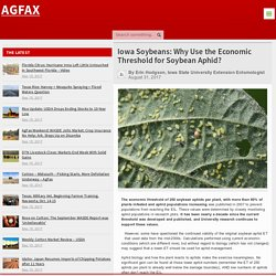 AGFAX 31/08/17 Iowa Soybeans: Why Use the Economic Threshold for Soybean Aphid?