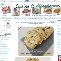 Cake salé au tofu soyeux tomates séchées & fines herbes (recette sans oeuf)