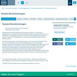 Soziale Dienstleistungen