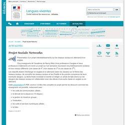 Projet Soziale Networks-Langues vivantes-Éduscol