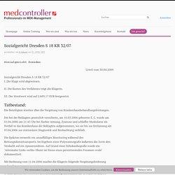 Sozialgericht Dresden S 18 KR 32/07 - Medcontroller