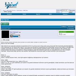 HTML sözlüğü - İyinet - Webmaster Forumu