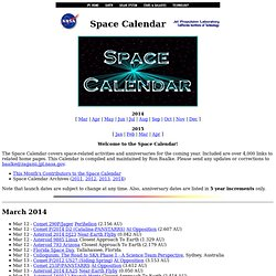 Space Calendar (JPL)
