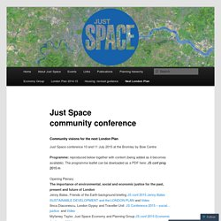 Just Space community conference