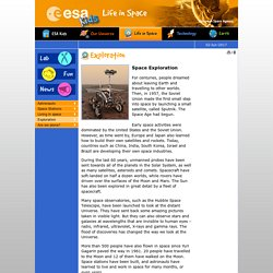 ESA - Space for Kids - Life in Space - Space Exploration