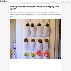 Save Space And Get Organized With A Hanging Shoe Caddy