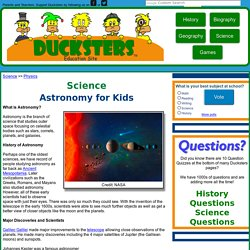 Space Science: Astronomy for Kids