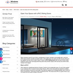 Open Your Space with uPVC Sliding Doors