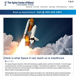 Here is what Space X can teach us in healthcare