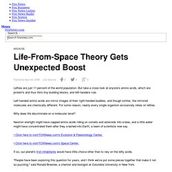 Life-From-Space Theory Gets Unexpected Boost
