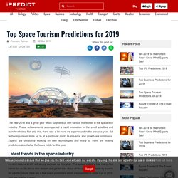 Top Space Tourism Predictions for 2019