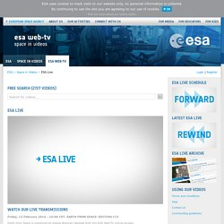 Space in Videos - ESA Live