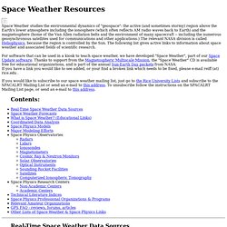Weather Resources