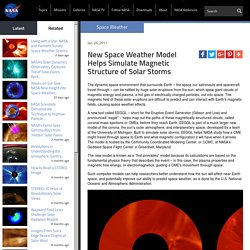 Space Weather Model Helps Simulate Solar Storms