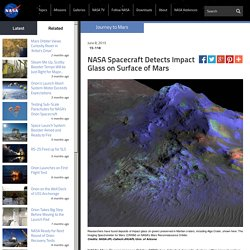NASA Spacecraft Detects Impact Glass on Surface of Mars