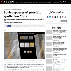 Soviet spacecraft possibly spotted on Mars