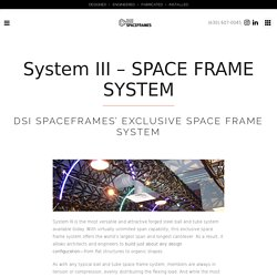 DSI Spaceframes Exclusive Space Frame System - DSI System III