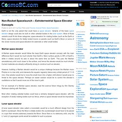 Extraterrestrial Space Elevator Concepts