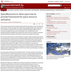 SpaceResources.lu: New space law to provide framework for space resource utilization