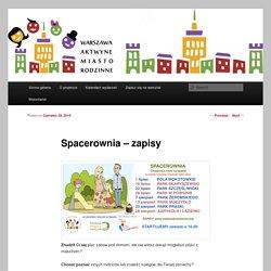 Spacerownia – zapisy