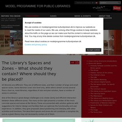 Zones and spaces - MODEL PROGRAMME FOR PUBLIC LIBRARIES