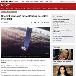 SpaceX sends 60 more Starlink satellites into orbit