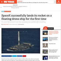 SpaceX successfully lands its rocket on a floating drone ship for the first time