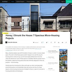 Honey, I Shrunk the House: 7 Spacious Micro-Housing Projects