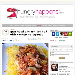 spaghetti squash topped with turkey bolognese - Hungry Happens!