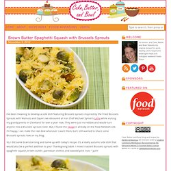 Brown Butter Spaghetti Squash with Brussels Sprouts