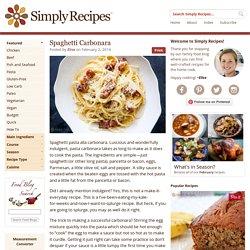 Spaghetti alla Carbonara, Pasta Carbonara Recipe