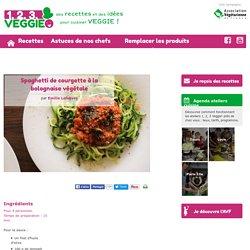 Spaghetti de courgette à la bolognaise végétale1.2.3. Veggie