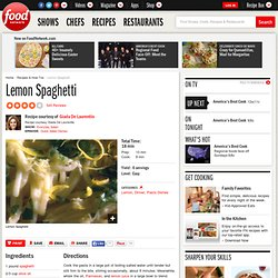 Lemon Spaghetti Recipe : Giada De Laurentiis