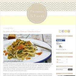 Spaghetti à la Poutargue (Bottarga), Pistaches et Citron