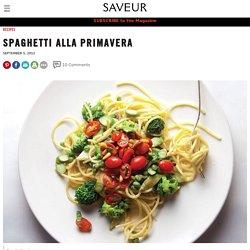 Spaghetti Alla Primavera Recipe