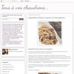 Spaghettini crémeux oignons et champignons