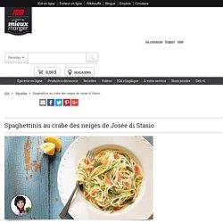 Spaghettinis au crabe des neiges de Josée di Stasio