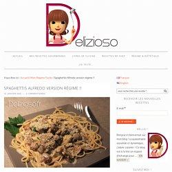 Spaghettis Alfredo version régime !! - Délizioso