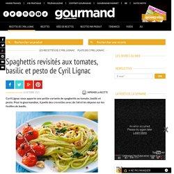 Spaghettis tomate basilic et pesto - Recette - Gourmand