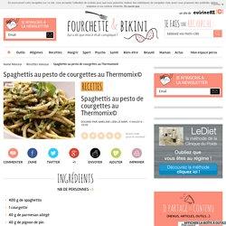 Spaghettis au pesto de courgettes au Thermomix©