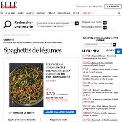 spaghettis de légumes pour 4 personnes