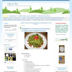 Spaghettis en verdure (convenant pour un régime anti-candida/mycoses)