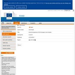 DG SANCO - Rapport OAV : Spain 2019-6628 Animal transporters at the European Union borders Jul 2019 Report details