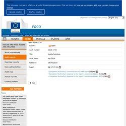 DG SANCO – Rapport OAV: Spain 2019-6730 Xylella fastidiosa Apr 2019