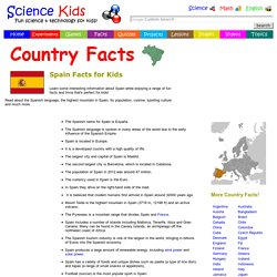 Fun Spain Facts for Kids - Interesting Information about Spain