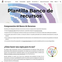 GEG Spain - Plantilla Banco de recursos