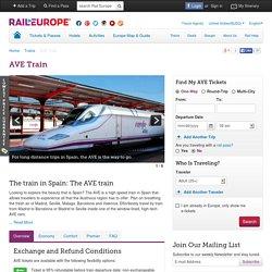 AVE (Spain): Train Travel Info