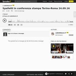 Spalletti in conferenza stampa Torino-Roma 24.09.16